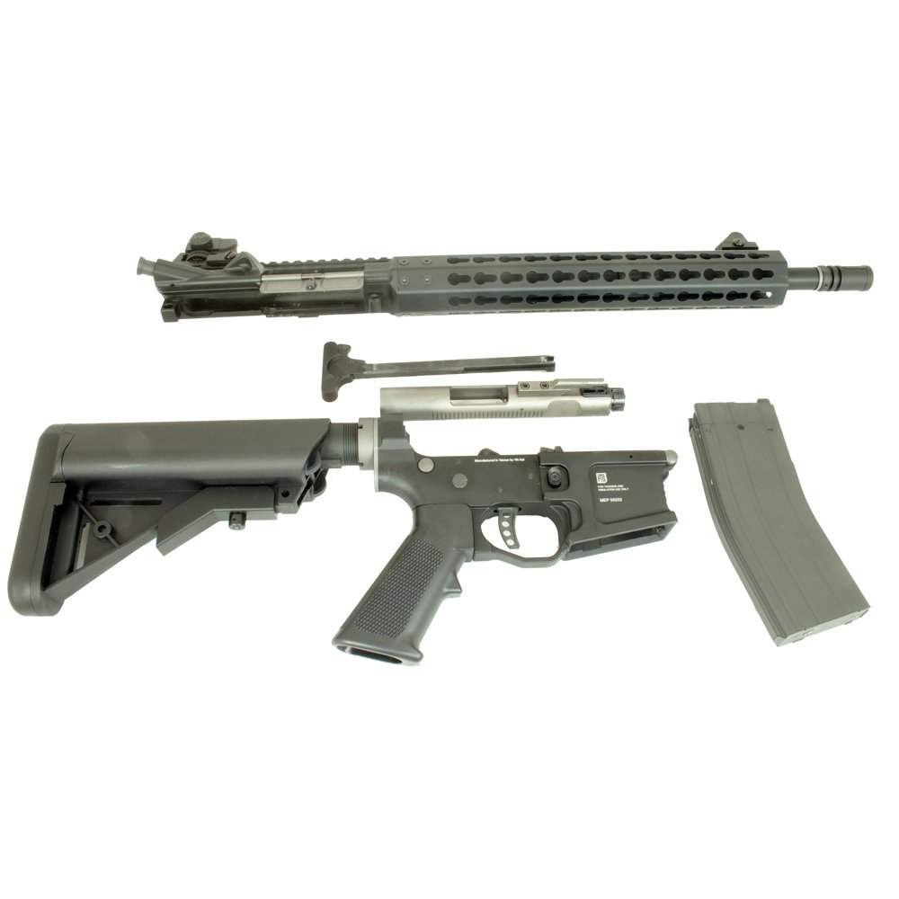 PTS Syndicate Airsoft Mega Arms MKM AR15 - Black - Airsoft Direct