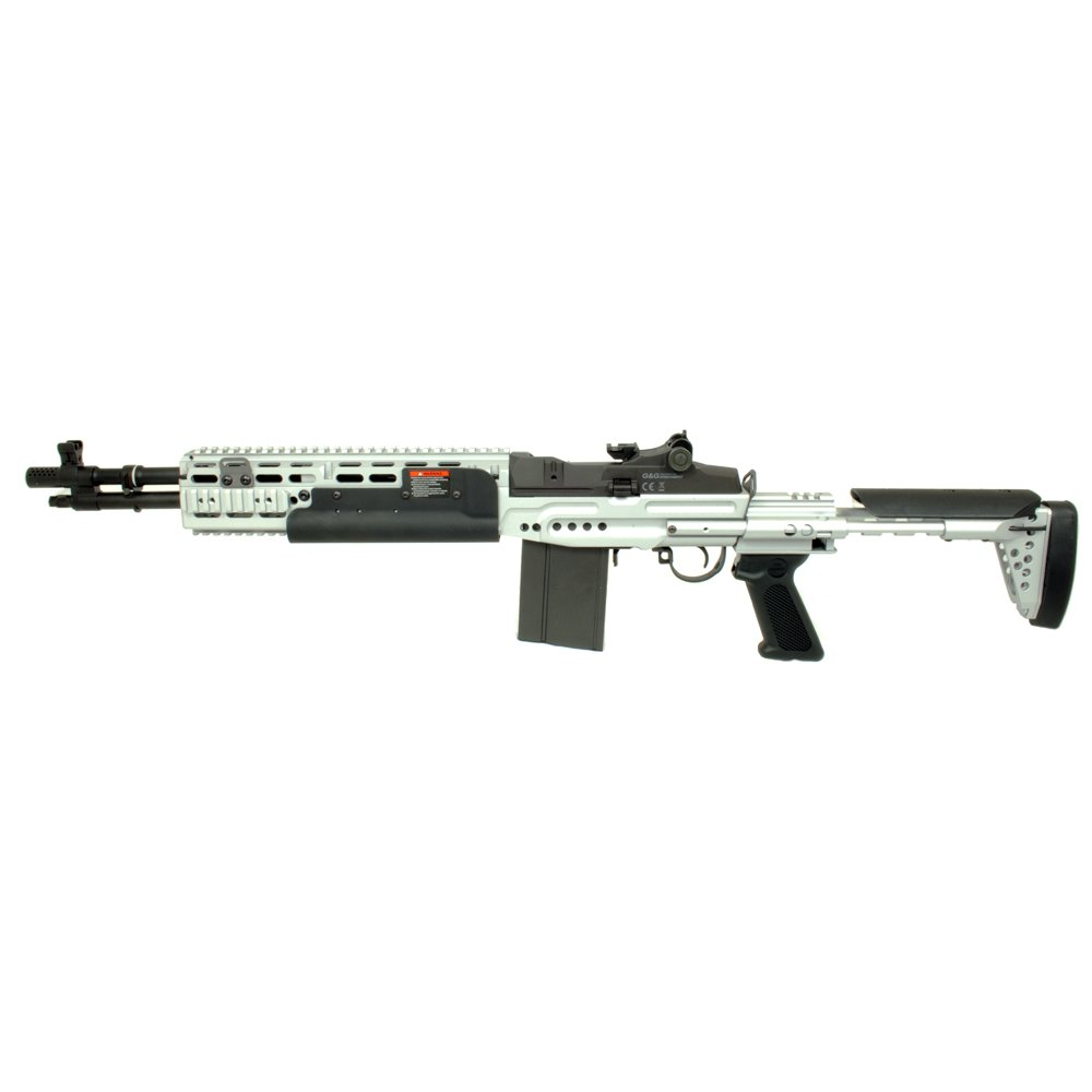 G&G Airsoft MK14 EBR Short Silver Version - Airsoft Direct M14 Ebr Silver